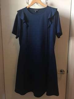 Dorothy Perkins Navy Dress Size 18 With Shoulder Detail