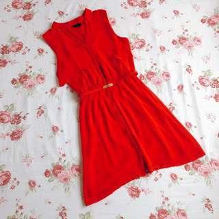 H&M Bright Red Valentine's Dress