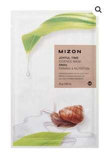 🚚 [Bundle deal of 3] - Mizon Joyful Time Essence Sheet Mask Snail (23g)