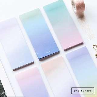 🚚 [PO] ombré pastel sticker note memopad
