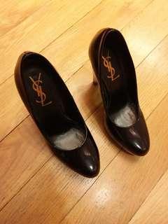 Authentic YSL wedge heel