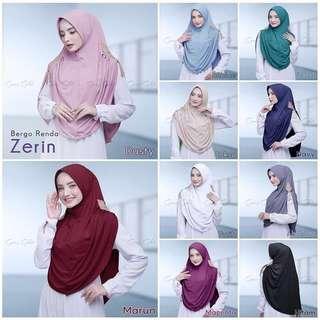 🚚 PO Bergo renda zerin hijab