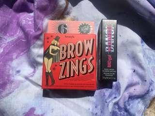 Benefit brow zings shade - 6  And mini bad girl mascara Bundle
