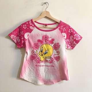 🚚 (3件100)翠兒粉色上衣 Tweety T-shirt (3 items$100)