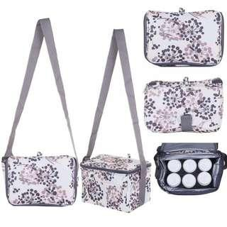 Breast milk storage cooler bag