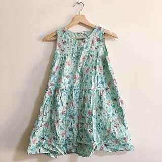 🚚 (3件100)Pop on pop 140公分童藍綠色洋裝 dress for kid 140cm (3 items$100)