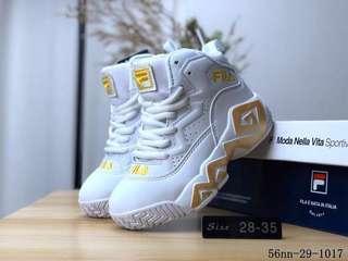 buy popular 12084 1e4ca Fila basketball shoes kids copy ori 1.1
