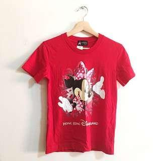 🚚 香港迪士尼米妮紅色上衣 Hong Kong Disney Minnie T-shirt