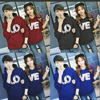 CP JKT HOODIE LOVE MB #baju couple jaket hoodie