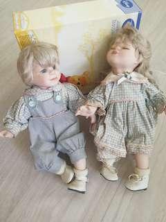 陶瓷娃娃一對