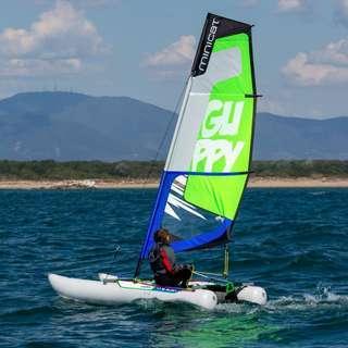 Minicat Guppy 便攜式充氣雙體船帆船-可放於家中的帆船!