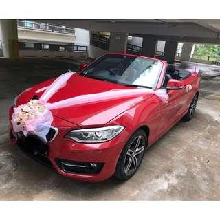 Bridal / wedding car for rental with chauffeur