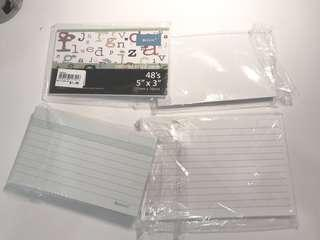Cue cards - blank, colour ruled, big