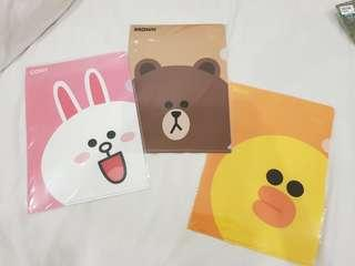 Map brown cony saly line friends