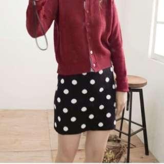 針織 毛線 彈性 短裙
