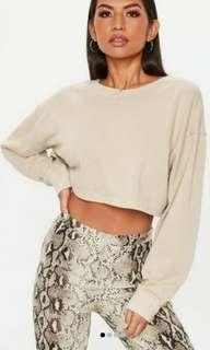Missguided cropped sweatshirt (size 2)