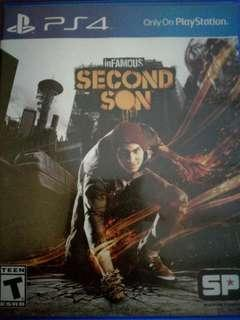 InFamous Second Son PS4 game.