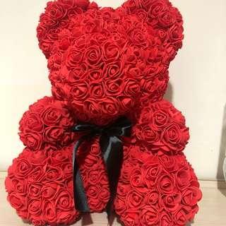 🚚 情人節 玫瑰 熊熊 特價 送禮大熊 娃娃 永生花小熊