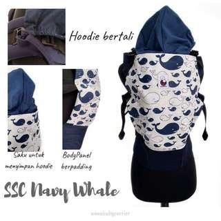 #CLEARANCE [STANDARD] Nana Baby Carrier - Whales ($75)
