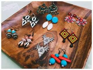 Bohemian, gypsy, festival, and vintage accessories, earrings for sale