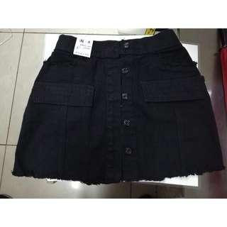 Highwaist Black Denim skirt