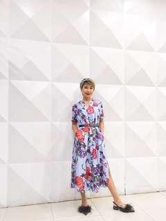 Branded Jinky Pacquiao Inspired Floral Long Dress