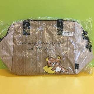 (全新現貨)日本娃娃機抓樂霸 戰利品 Rilakkuma 拉拉熊咖啡色側背包 手提包 肩背包