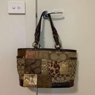 Authentic Coach Patchwork Tote Bag