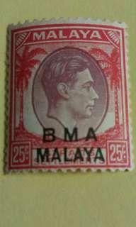 25 Cents BMA Malaya stamp #B011