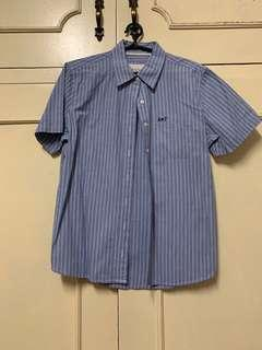 Abercrombie & Fitch Blue shortsleeve polo