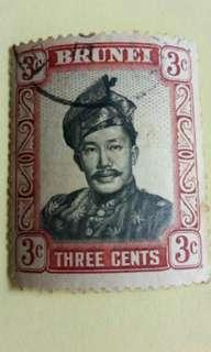 3 cents Brunei Stamp #B012