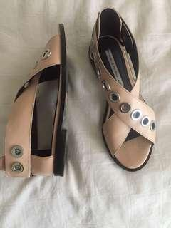 Reduced price- & other stories nude colour, with silver hardware sandals