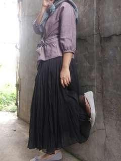 Setelan blouse+rok tutu vintage