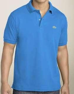 Authentic lacoste poloshirt in light blue