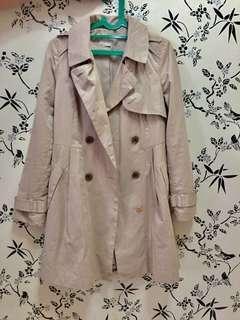 Trench Coat zara look alike Long Cream Jacket