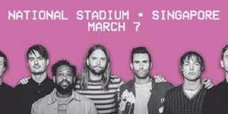 5 x Maroon 5 tickets for sale! Cat 2 & Cat 4