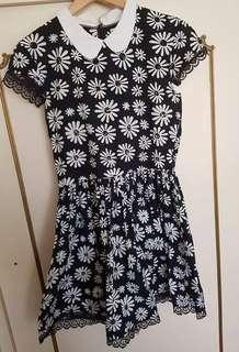 Her Pony Pixie Collar Daisy Skater Dress Sz 12