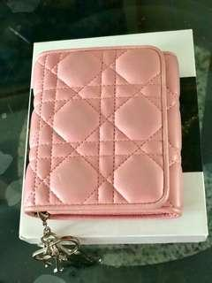 Authentic Lady Dior Calfskin wallet