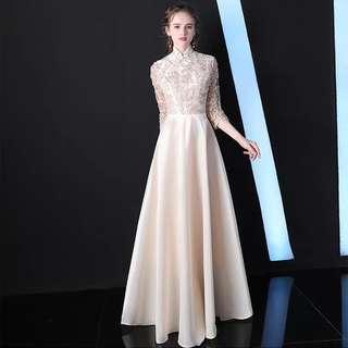 🚚 Mandarin Collar Cheongsam Dress