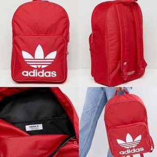 "INSTOCKS Red Adidas Originals ""Trefoil"" Backpack"