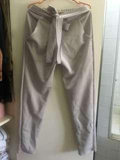 Grey Tapered Office Pants