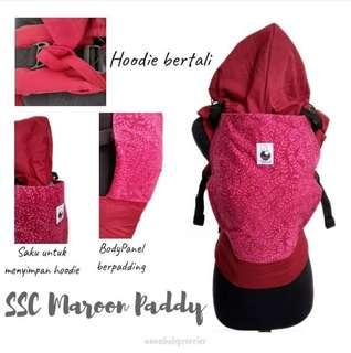 #CLEARANCE [STANDARD] Nana Baby Carrier - Maroon Paddy ($60)