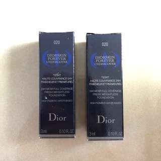 Dior迪奧 超完美特務粉底液輕巧版x2