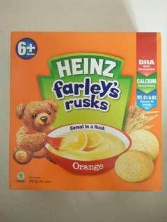 Baby cereal (orange flavor)