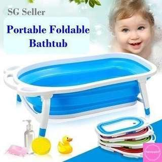 🚚 FREE Adjustable Seat Support Neck - BN Portable Foldable Bathtub