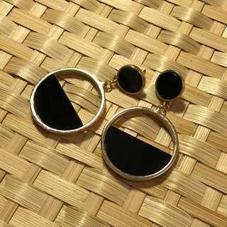氣質 大圈圈耳環