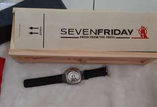 Used seven friday square watch