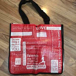 Lululemon red eco tote bag