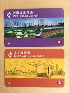 西鐵、地鐵紀念車票
