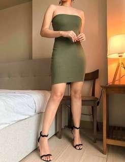 Army Green Bandage Dress